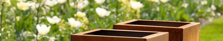 Cortenstaal plantenbakken