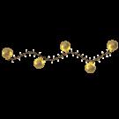 Lichtsnoer met kerstballen - 2in1 decoratie (voor 120-150 cm bomen)