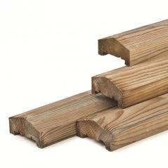 Afdeklat hout piramide (180 cm)