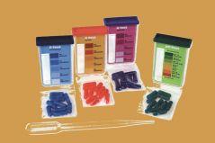 Grondtest. 4 x 10 tests voor: stikstof, fosfor, kalium en de zuurgraad