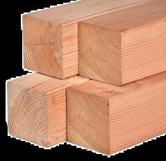 Paal Douglas/Lariks stomp (7x7x300 cm)
