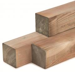 Paal geïmpregneerd grenen stomp (9x9x300 cm)