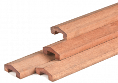 Afdeklat hardhout (180 cm)