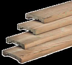 Afdeklat geïmpregneerd grenen (183 cm)