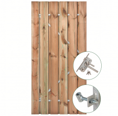 Tuindeur geïmpregneerd grenen met RVS slot (90x200 cm)