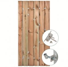 Tuindeur geïmpregneerd grenen met RVS slot (120x200 cm)
