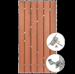 Tuindeur hardhout met RVS slot (120x195 cm)