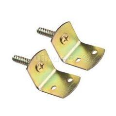 Bevestigingsset geel verzinkt (voor houten palen) - 12 stuks voor 3 houten palen