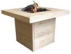 Enjoyfies Feuertisch Leaf aus neuem Gerüstholz  80 x 80 x 55 cm.