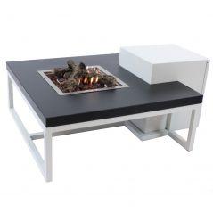 Enjoyfires vuurtafel Ambiance wit zwart 90x90x cm.