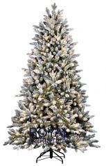 Royal Christmas Canberra Flock kunstkerstboom 210 cm met LED smartadapter