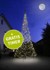 Fairybell vlaggenmastkerstboom 600 cm 1200 LED Multi Colour