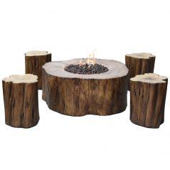 Elementi vuurtafel zithoek Manchester Red Wood - complete set