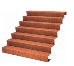 Dit is een voorbeeld van een trap 7 treden 119 cm hoog (in dit voorbeeld 150 cm lang)