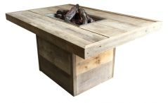 Enjoyfires Feuertisch Twist altes Gerüstholz 120 x 180 cm