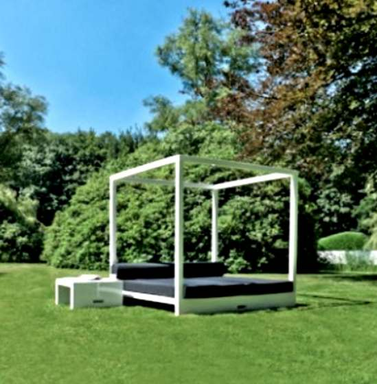 JAN Daybed Glossy white