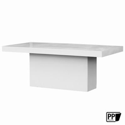 Rechthoekige tafel XL Glossy white