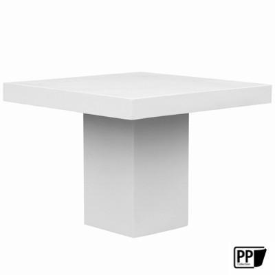 Vierkante tafel XL Glossy white