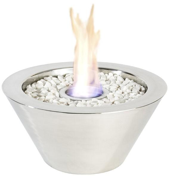 Gelbrander vuurschaal RVS glans