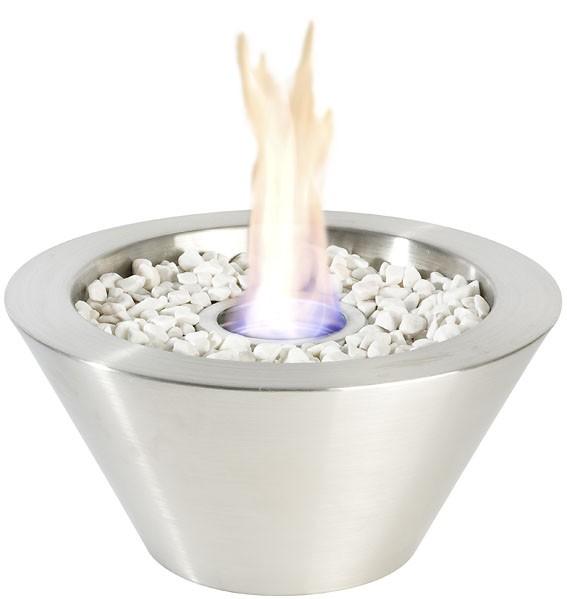 Gelbrander vuurschaal RVS mat