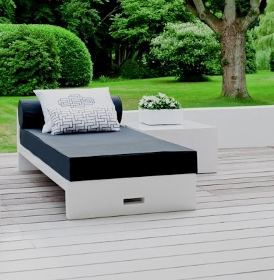JAN Lounger Glossy white