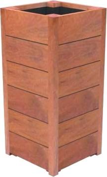 Hardhouten plantenbak Toscane 40x40x74cm.