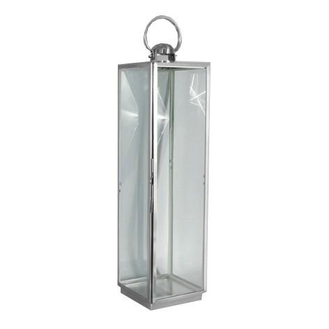 RVS lantaarn 18x18x70 cm.