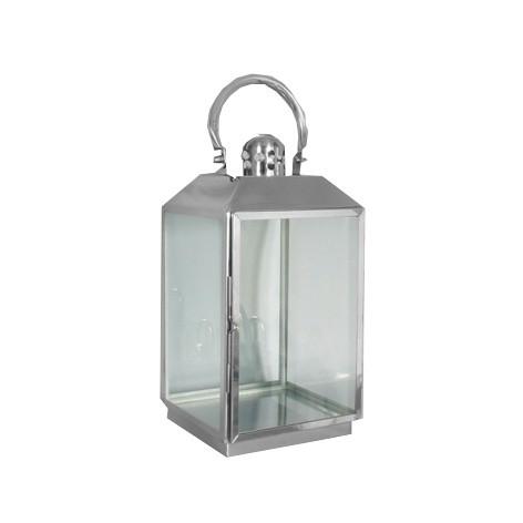 RVS lantaarn 20x20x40,5 cm.