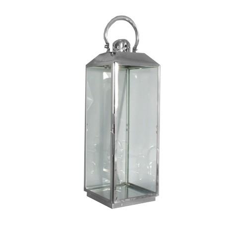 RVS lantaarn 20x20x60,5 cm.