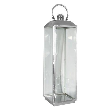 RVS lantaarn 20x20x70,5 cm.