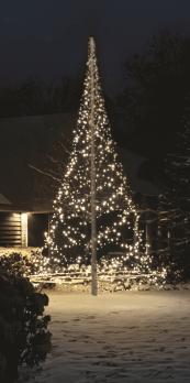 Met de fairybell maak je in een handomdraai van een vlaggenmast een kerstboom