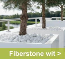 Hoogglans witte fiberstone plantenbakken zijn krasbestendig en vorstbestendig