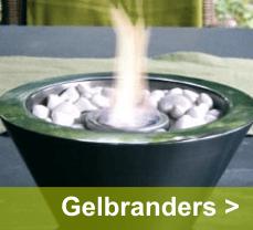 Voor een levendige sfeer in of buiten huis vind je op Tuin-online stoere gelbranders en olielampen