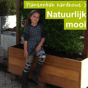 hardhouten plantenbakken