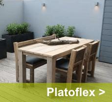 Met platoflex plaats je een tuinafscheiding in 1 dag