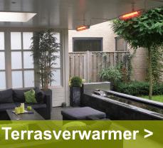 Je zit altijd heerlijk warm buiten met een terrasverwarmer van Eurom, natuurlijk bij Green-lab
